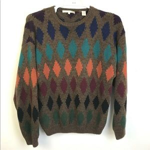 Perry Ellis Muted Colors Cotton Sweater